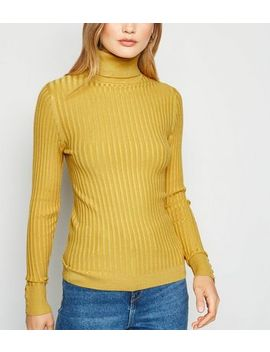 Mustard Roll Neck Jumper by New Look