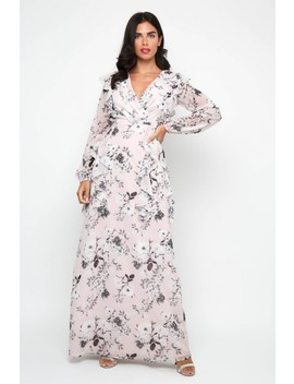 Tfnc Shanice Pink Floral Maxi Dress by Tfnc London
