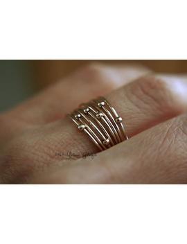 Gold Orbit Ring, Spinner Rings, Stacking Rings, Modern Sterling Spinner Ring, Thin Ring, Beaded Ring, Whisper Rings, Delicate Rings, Gift by Etsy
