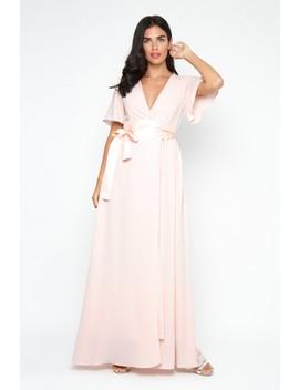 Tfnc Omaria Peach Blush Maxi Dress by Tfnc London