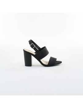 &Me Women's Double Band Heels   Black by &Me