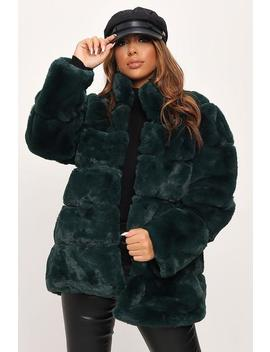 Emerald Green Pelted Faux Fur Coat by I Saw It First