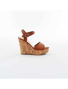 &Me Women's Cork Wedge Shoes   Brown by &Me