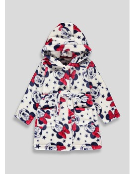 Kids Minnie Mouse Dressing Gown (3mths 6yrs) by Matalan