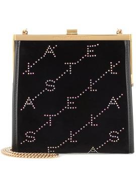 Sac à Bandoulière Mini Frame Monogram En Velours by Stella Mc Cartney