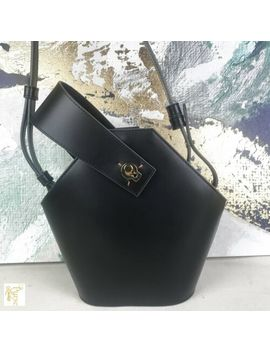 $430 Danse Lente Black Genuine Leather Mini Johnny Bucket Bag Crossbody Sale! by Dense Lente