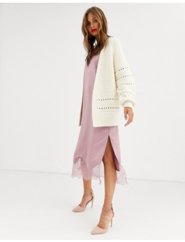 Asos Design Premium Stitch Detail Cardigan by Asos Design