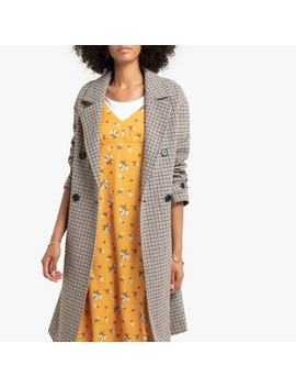 Double Breasted Checked Coat With Pockets by La Redoute Collections