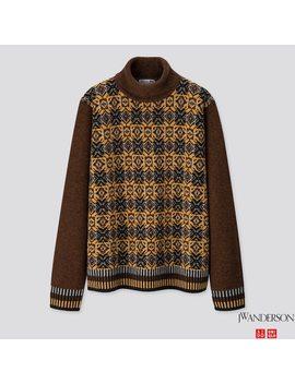 Herren Jw Anderson Jacquard Pullover Aus Premium Lammwolle by Uniqlo
