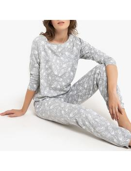 Cotton Print Pyjamas With Long Sleeves by La Redoute Collections