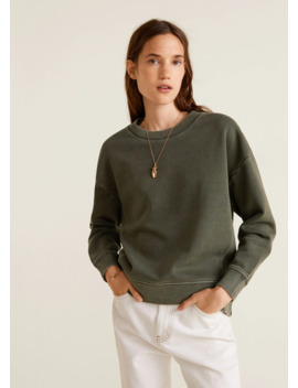 Distressed Effect Sweatshirt by Mango