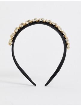 boohoo-headband-with-gold-embellishment-in-black by boohoo
