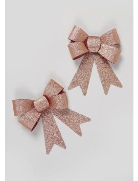 2 Pack Christmas Bows by Matalan