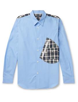 Panelled Cotton Poplin Shirt by Comme Des Garçons Homme