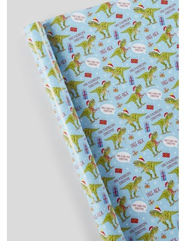 Dinosaur Christmas Wrapping Paper (10m) by Matalan