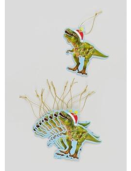 10 Pack Dinosaur Christmas Gift Tags (10cm X 10cm) by Matalan