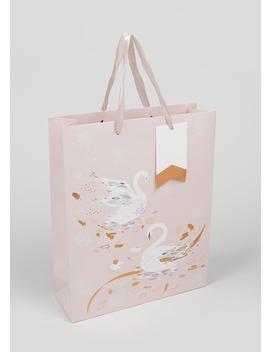 Swan Gift Bag (26cm X 32cm X 12cm) by Matalan