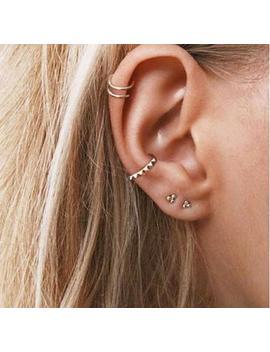 Ear Cuff, Dainty Gold Ear Cuff, Huggie Ear Cuff, Minimalist Gold Ear Cuff, Fake Huggie Earrings, Tiny Ear Cuff, Non Pierce Hoops by Etsy
