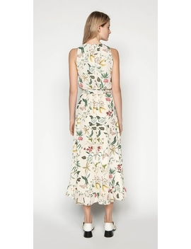 Illustrated Botanic Midi Dress by Cue