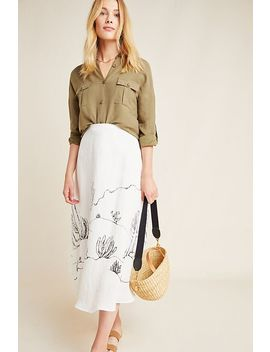 Tracy Reese Mayson Organic Linen Midi Skirt by Hope For Flowers By Tracy Reese