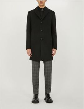 Gable Single Breasted Wool Overcoat by Reiss