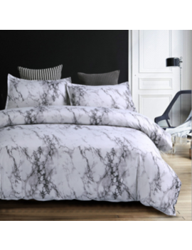 Marble Duvet Cover With Pillow Cases Reversible Quilt Cover Bedding Set All Size by Ebay Seller