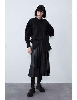 Camisa PopelÍn Volumen by Zara