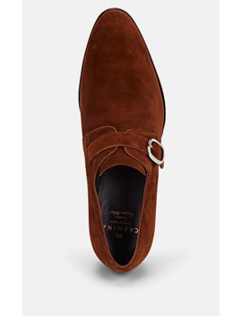 Suede Monk Strap Shoes by Carmina Shoemaker