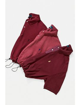Urban Renewal Remade Branded Burgundy Bungee Polo Shirt by Urban Renewal