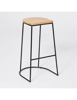 Metal And Wooden Bar Stool by Target