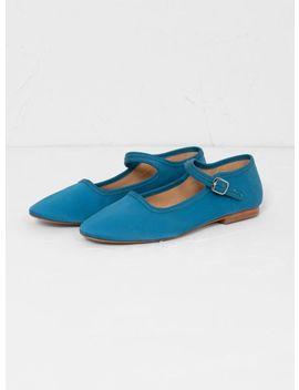 Ellie Mary Jane Shoes Cadet Blue by Caron Callahan