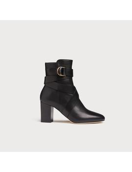 Raya Black Leather Ankle Boots by L.K.Bennett