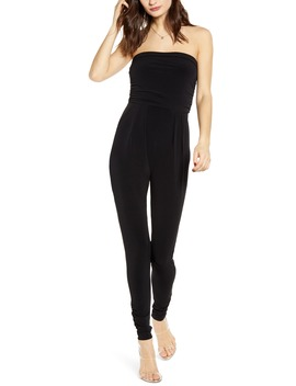 Strapless Ruched Jumpsuit by Leith