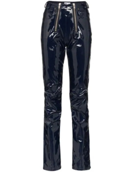 Zip Detailed Straight Leg Trousers by Gmb H