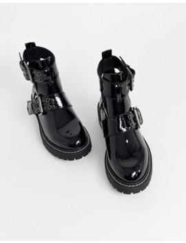 River Island   Bottes Chunky Pointure Large   Noir by River Island