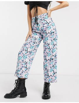 Asos Design High Rise 'relaxed' Dad Jeans In Floral Print by Asos Design