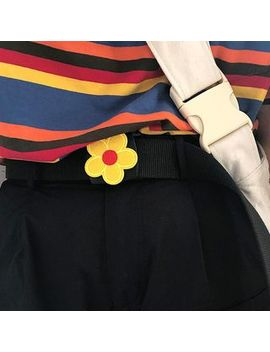 Cimao   Flower Canvas Belt by Cimao
