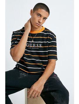 Guess Originals Black Horizontal Stripe T Shirt by Guess Originals