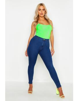 Plus Tube Jean by Boohoo