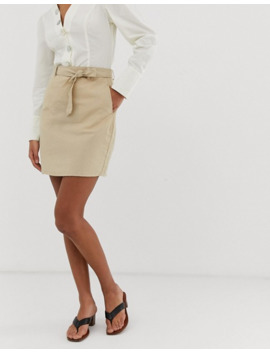 Pieces Tie Waist Mini Skirt by Pieces