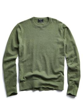 Cotton Crew Neck In Thyme by Todd Snyder