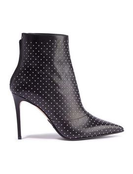 Studded Leather Ankle Boots by Balmain