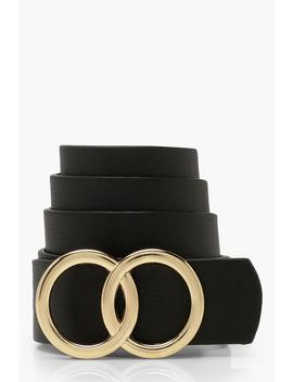 Plus Double Ring Detail Boyfriend Belt by Boohoo