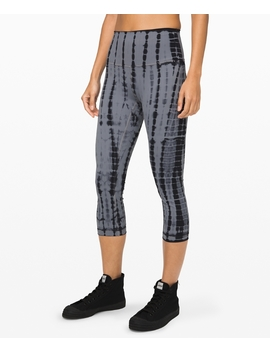 "Wunder Under Crop (High Rise) Full On Luxtreme 21"" by Lululemon"