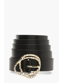 Plus Gold Buckle Boyfriend Belt by Boohoo
