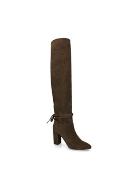 Suede Milano Over The Knee Boots 85 by Aquazzura