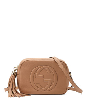 Gucci Soho Small Shoulder Bag, Beige by Gucci
