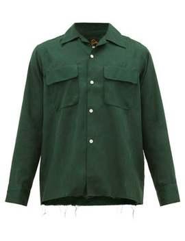 Raw Hem Silk Jacquard Shirt by Needles