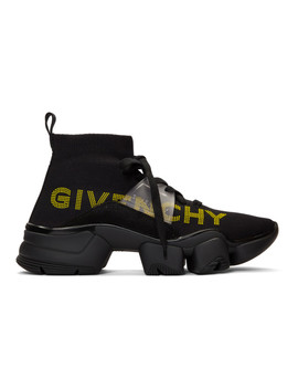 Black Jaw Mid Top Sneakers by Givenchy