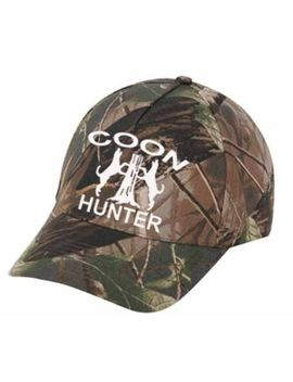 "Cap Hat Oak Camo Coon Hunter Treeing Coon Hound Coonhound Dog Hunter by ""Custom Made"""